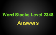 Word Stacks Level 2348 Answers