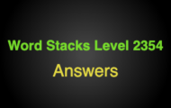 Word Stacks Level 2354 Answers