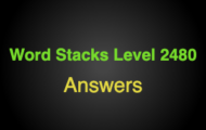Word Stacks Level 2480 Answers