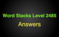 Word Stacks Level 2485 Answers