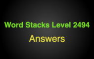 Word Stacks Level 2494 Answers