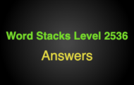 Word Stacks Level 2536 Answers