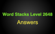 Word Stacks Level 2648 Answers