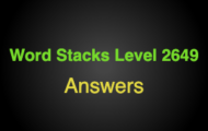 Word Stacks Level 2649 Answers