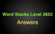 Word Stacks Level 2652 Answers