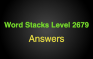Word Stacks Level 2679 Answers