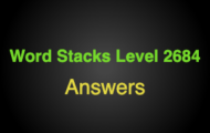 Word Stacks Level 2684 Answers