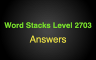 Word Stacks Level 2703 Answers