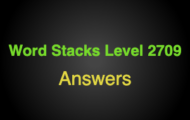 Word Stacks Level 2709 Answers