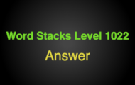 Word Stacks Level 1022 Answers