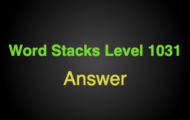 Word Stacks Level 1031 Answers