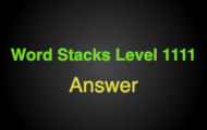Word Stacks Level 1111 Answers