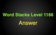 Word Stacks Level 1166 Answers