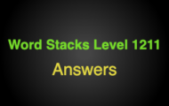 Word Stacks Level 1211 Answers