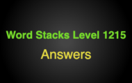 Word Stacks Level 1215 Answers