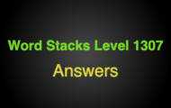 Word Stacks Level 1307 Answers