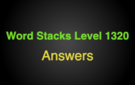 Word Stacks Level 1320 Answers