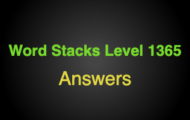 Word Stacks Level 1365 Answers