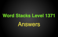 Word Stacks Level 1371 Answers