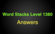 Word Stacks Level 1380 Answers