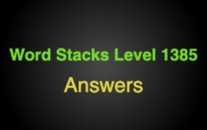 Word Stacks Level 1385 Answers