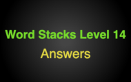 Word Stacks Level 114 Answers