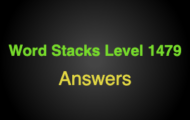 Word Stacks Level 1479 Answers