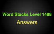 Word Stacks Level 1488 Answers