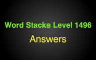 Word Stacks Level 1496 Answers
