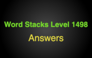 Word Stacks Level 1498 Answers