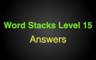 Word Stacks Level 115 Answers