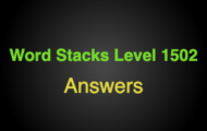 Word Stacks Level 1502 Answers