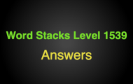 Word Stacks Level 1539 Answers