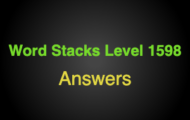 Word Stacks Level 1598 Answers