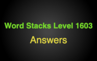 Word Stacks Level 1603 Answers