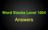 Word Stacks Level 1604 Answers