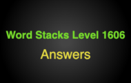 Word Stacks Level 1606 Answers