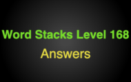 Word Stacks Level 168 Answers
