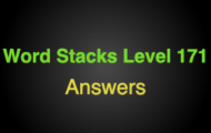 Word Stacks Level 171 Answers