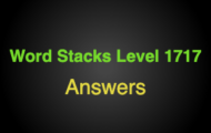 Word Stacks Level 1717 Answers