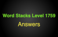 Word Stacks Level 1759 Answers