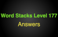 Word Stacks Level 177 Answers