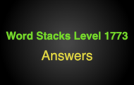Word Stacks Level 1773 Answers