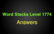 Word Stacks Level 1774 Answers