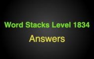 Word Stacks Level 1834 Answers