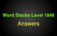 Word Stacks Level 1846 Answers