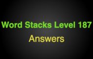 Word Stacks Level 187 Answers