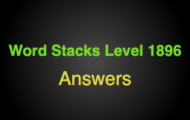 Word Stacks Level 1896 Answers