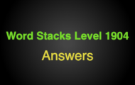 Word Stacks Level 1904 Answers