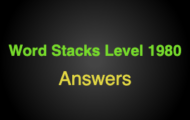 Word Stacks Level 1980 Answers